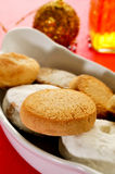 Mantecados and polvorones, typical christmas sweets in Spain Royalty Free Stock Photos
