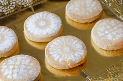 Mantecados and Polvorones, typical Spanish Christmas sweets. Stock Photos
