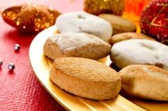 Mantecados und polvorones, typische Weihnachtsbonbons in Spanien Lizenzfreies Stockfoto