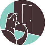 Manteckningsbild av dörren Royaltyfri Illustrationer