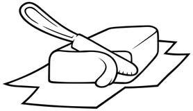 Manteiga ilustração stock