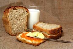 Manteiga com caviar Foto de Stock Royalty Free