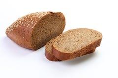 Manteiga com fundo branco isolado pão Fotografia de Stock Royalty Free