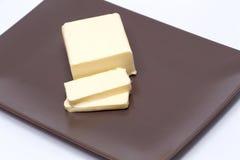 Manteiga cortada Fotos de Stock Royalty Free