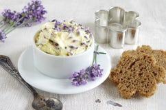 Manteiga da alfazema imagem de stock royalty free