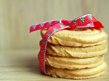 Manteiga das cookies do Natal Imagem de Stock Royalty Free