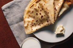 Manteiga das panquecas Russo bliny Maslenitsa Imagem de Stock