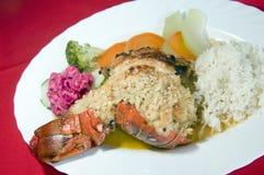 Manteiga de alho das caraíbas Nicarágua das caudas de lagosta imagem de stock royalty free