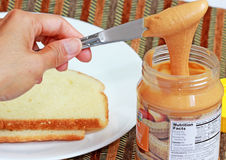 Manteiga de amendoim Fotos de Stock Royalty Free
