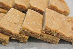 Manteiga de amendoim Brownie Bars fotografia de stock