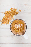 Manteiga de amendoim caseiro Fotos de Stock
