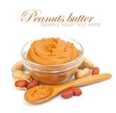 Manteiga de amendoim cremosa Imagem de Stock