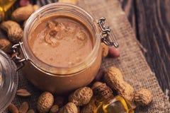 Manteiga de amendoim natural Imagem de Stock