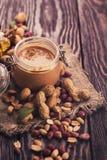 Manteiga de amendoim natural Foto de Stock