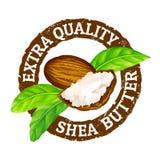 Manteiga de shea extra da qualidade do carimbo de borracha do grunge do vetor em um fundo branco ilustração royalty free