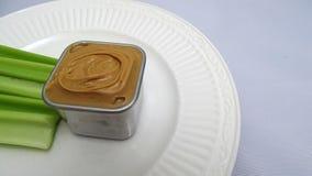 Manteiga do aipo e de porca Foto de Stock