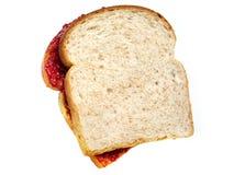 Manteiga e geléia de amendoim fotografia de stock