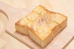 Manteiga e Sugar Toast imagens de stock