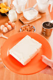 Manteiga fresca imagem de stock