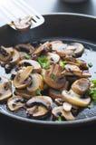 Manteiga Fried Mushrooms Imagem de Stock