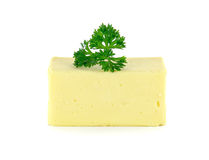Manteiga isolada no fundo branco Imagens de Stock Royalty Free
