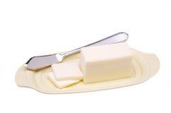 Manteiga na placa Fotografia de Stock Royalty Free