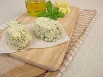 Manteigas compostas do vegetariano com ervas fotografia de stock