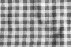 Mantel arrugado lino gris Imagen de archivo