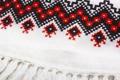 Mantel bordado en el estilo ucraniano Imágenes de archivo libres de regalías