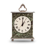 Mantel clock showing one o'clock Royalty Free Stock Photos