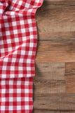 Mantel comprobado rojo Imagenes de archivo