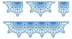 Mantel del cordón del vector en color azul Fotos de archivo