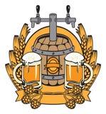 Mantel mit einem Faß Bier Stockfotos