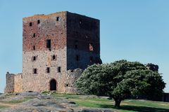 Hammershus Castle Ruin. Located on the island Bornholm, Denmmark Royalty Free Stock Photos