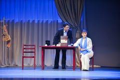 Mantel Ungerührt-Jiangxis OperaBlue Stockbild