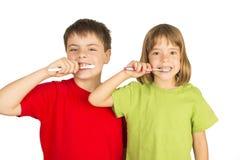 Mantendo meus dentes saudáveis imagens de stock royalty free
