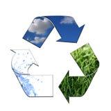 Mantenendo l'ambiente pulisca con il riciclaggio Fotografia Stock Libera da Diritti