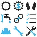 Mantenga el sistema del icono del vector de las herramientas Imagen de archivo