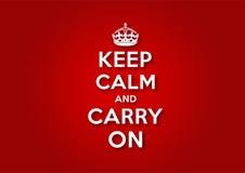 Mantenga la calma e continui Immagini Stock Libere da Diritti
