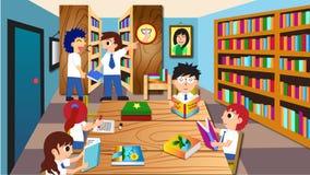 MANTENGA POR FAVOR EL SILENCIO la biblioteca todos los estudiantes libre illustration