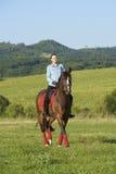 Mantenga tranquilo y vaya el montar a caballo Imagen de archivo libre de regalías