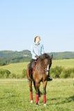 Mantenga tranquilo y vaya el montar a caballo Fotos de archivo