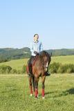 Mantenga tranquilo y vaya el montar a caballo Fotografía de archivo libre de regalías
