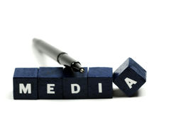 Mantenga un occhio sui media Fotografie Stock