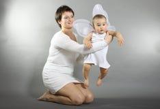 Mantengalo, madre! Altrimenti mosca di Iâll! Fotografie Stock Libere da Diritti