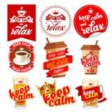 Mantenha ícones calmos ajustados Foto de Stock Royalty Free