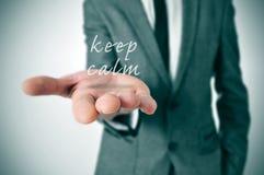 Mantenha a calma Foto de Stock