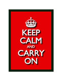 Mantenha a calma e continue Fotografia de Stock