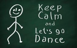 Mantenha a calma e deixe-nos ir dança Imagens de Stock Royalty Free