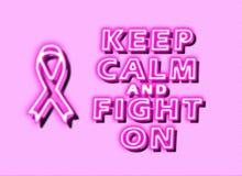 Mantenha a calma e lute-a no câncer da mama ilustração royalty free